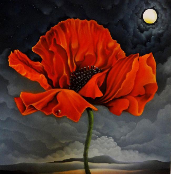 Mackenzie-Thorpe charity poppy painting