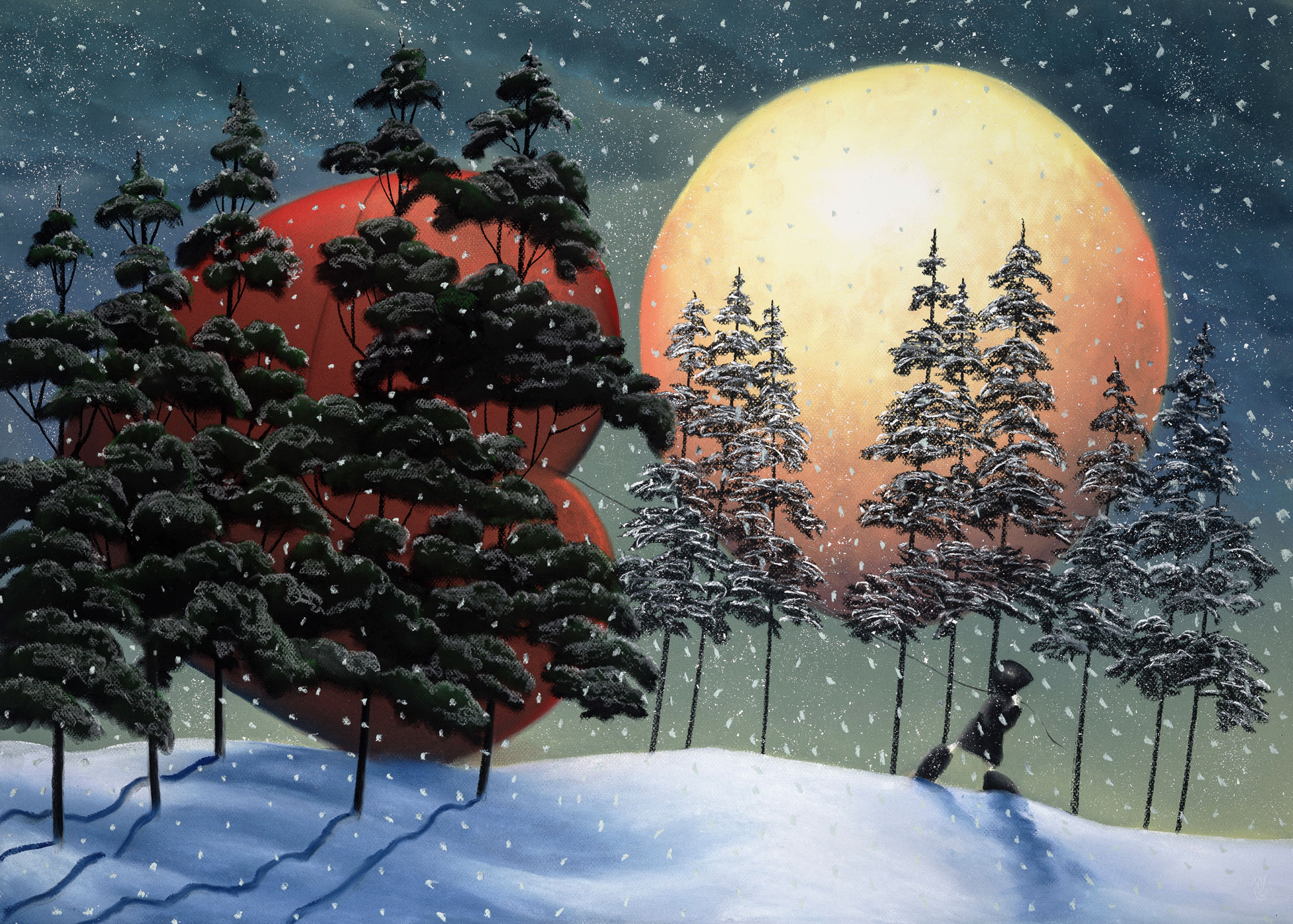 Winter moon of Love by Mackenzie Thorpe