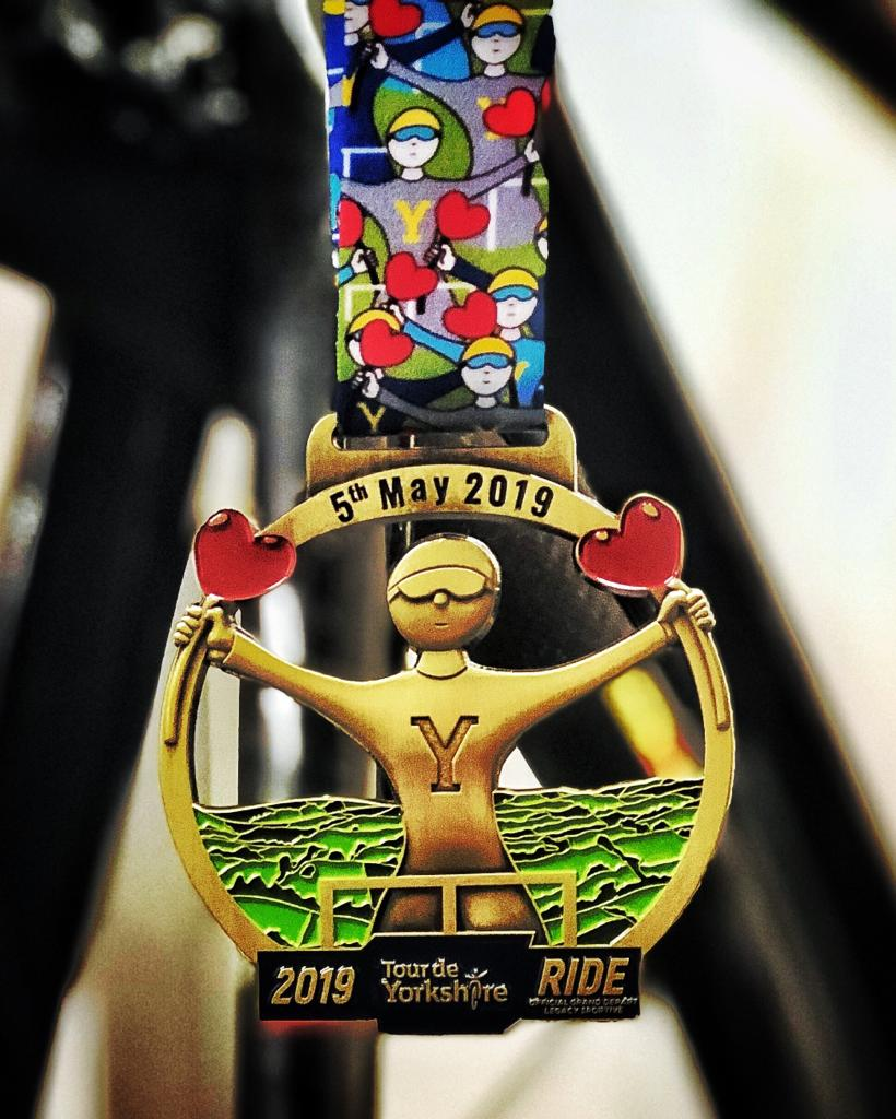 TdY Ride medal designed by Mackenzie Thorpe